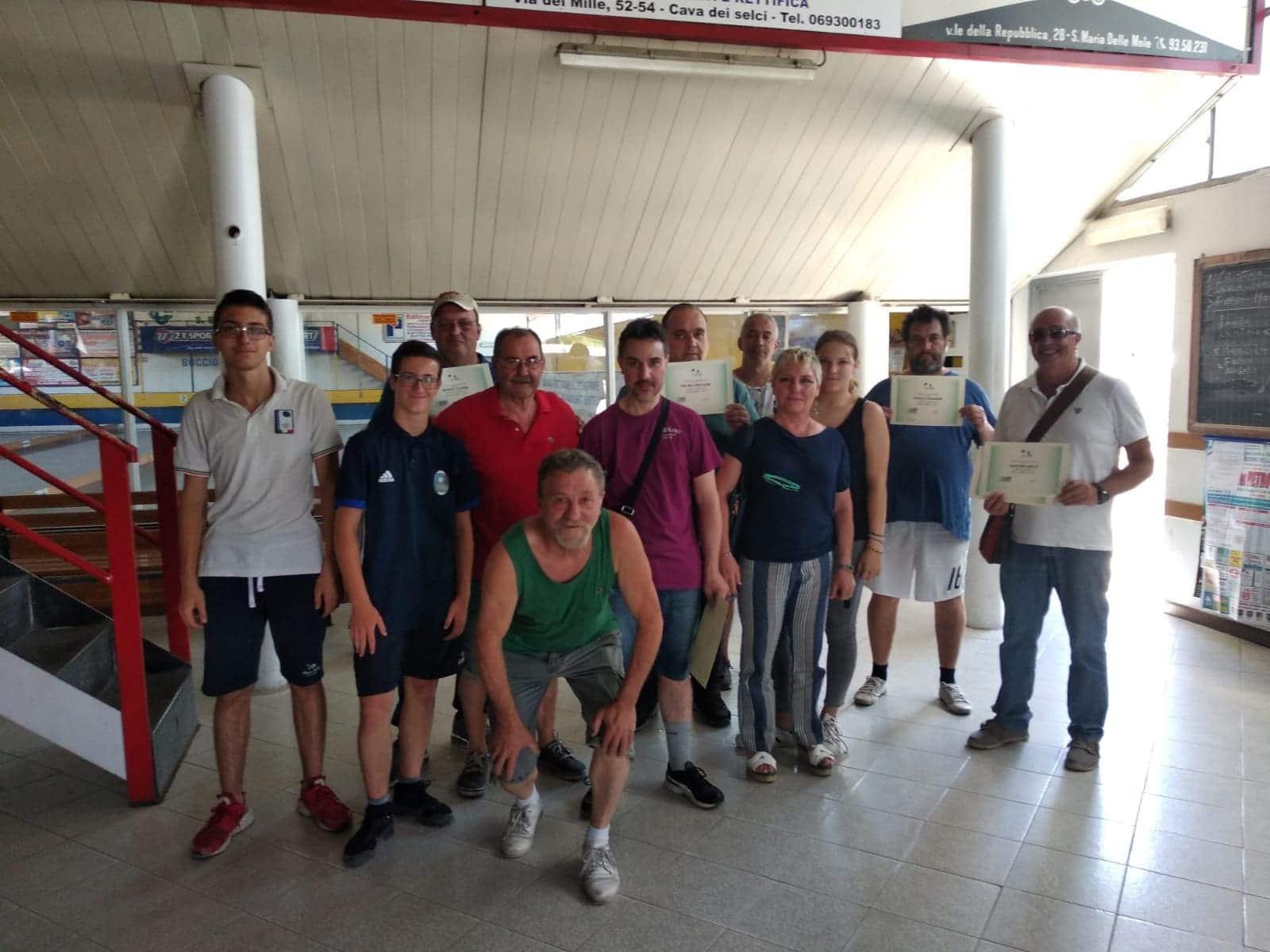 La Squadra Paralimpica dell'ASD Boville mentre si allena