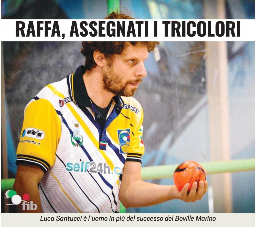 Luca Santucci studia il campo prima di lanciare